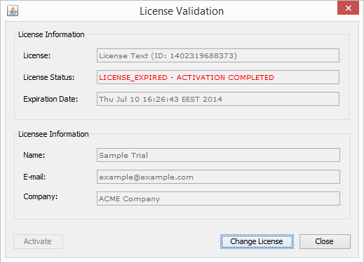 Quick Start Licensing Example 1