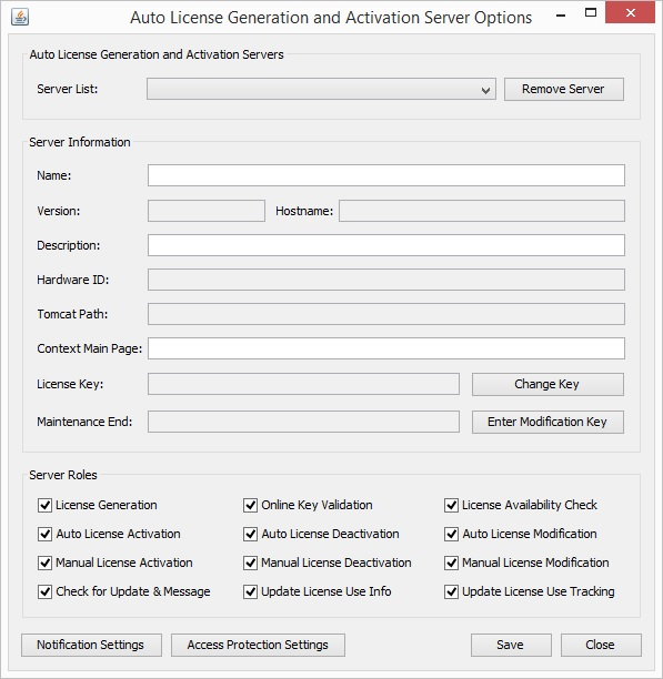 Click to view License Generation and Activation Server screenshots