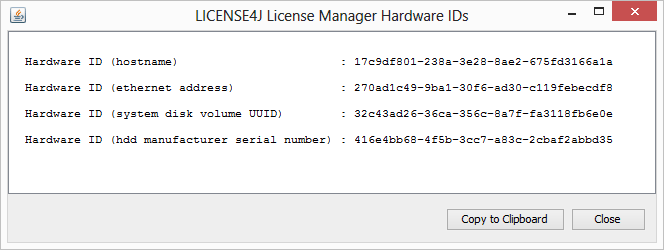 License4J - License Manager GUI